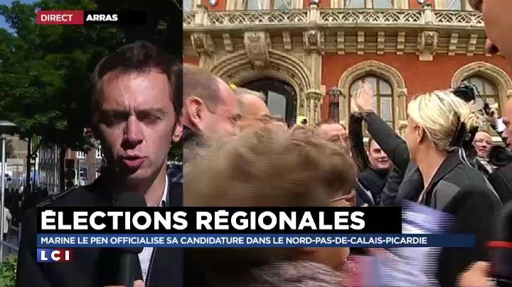 R�gionales : fin d'un long et faux suspense pour la candidate Marine Le Pen