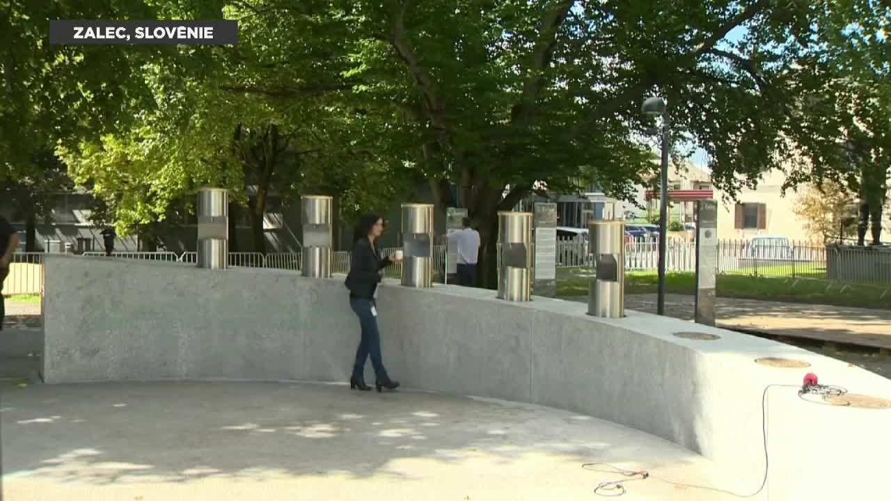La Slov�nie inaugure la premi�re fontaine � bi�re d'Europe