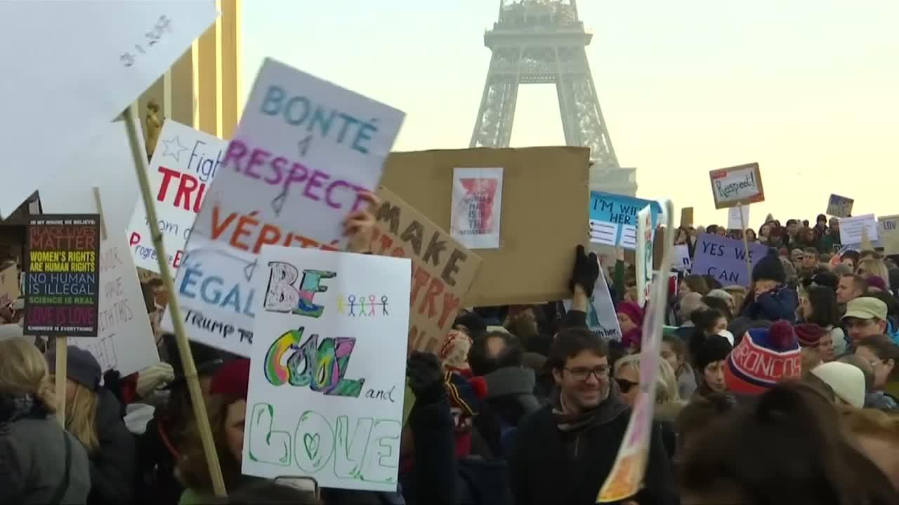 Women's March : plus de 650 rassemblements dans le monde pour protester contre Trump