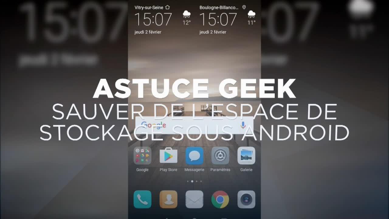 Sauver de l'espace de stockage sous Android