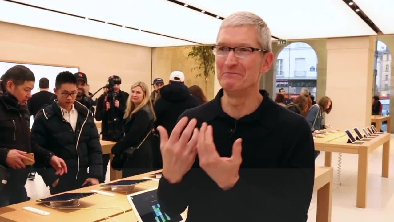 On a effacé l'iPhone de Tim Cook