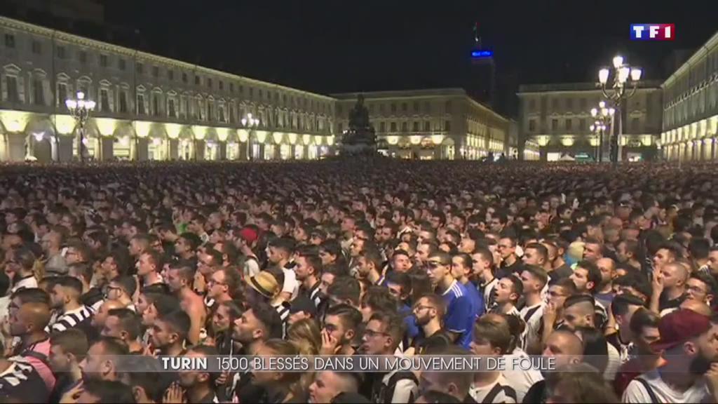 Panique dans une fan zone à Turin, 1.500 blessés