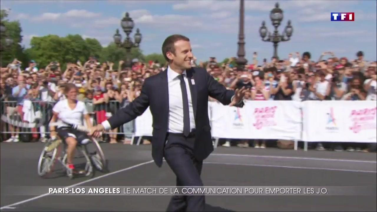 JO : face à Los Angeles, Emmanuel Macron mouille la chemise pour Paris 2024
