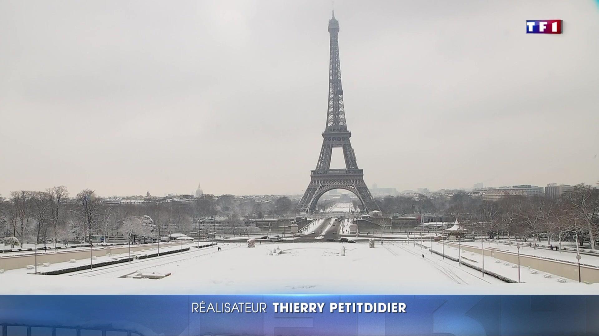 Sous la neige, Paris prend un nouveau visage